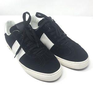 Valentino Black Suede Sneakers